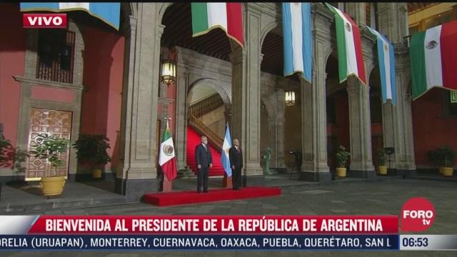 amlo recibe a presidente de argentina en palacio nacional