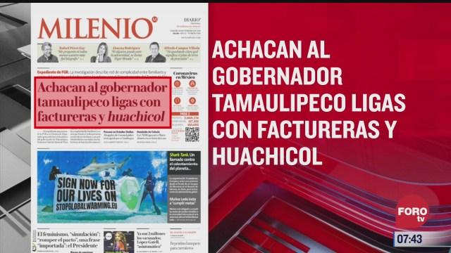 analisis de las portadas nacionales e internacionales del 26 de febrero del