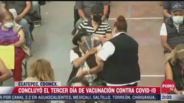 asi transcurrio el tercer dia de vacunacion covid a adultos mayores en ecatepec