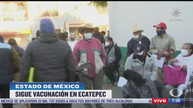Llegan vacunas COVID-19 al Centro Cívico Melchor Múzquiz, en Ecatepec