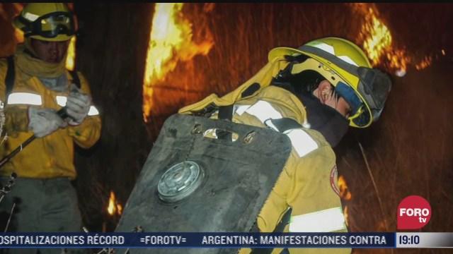 brigadistas combaten incendios forestales en ciudad de mexico