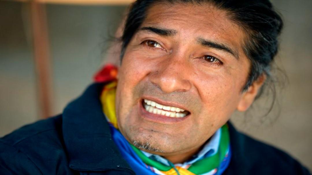 Cientos de ecuatorianos protestan por presuntofraude electoral contra candidato indígena, Yaku Pérez
