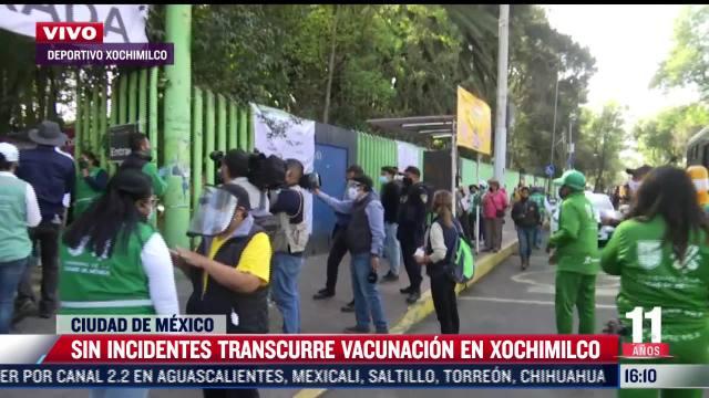 continua vacunacion contra covid 19 en xochimilco cdmx