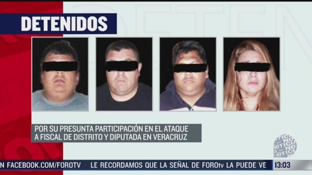 detienen a 4 personas por ataque a un fiscal y diputada en veracruz