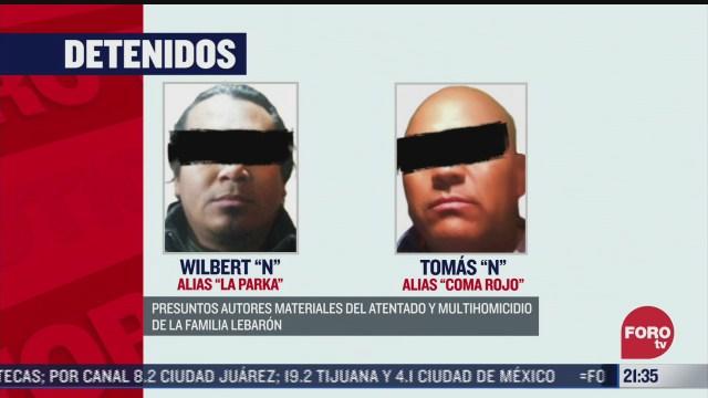 detienen a dos supuestos implicados en caso lebaron