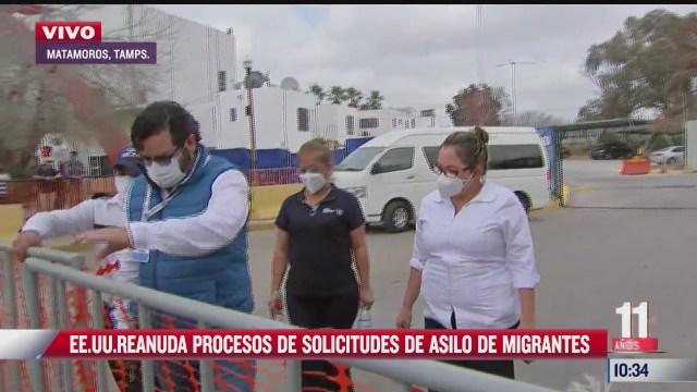 eeuu reanuda procesos de solicitudes de asilo a migrantes