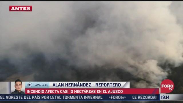 incendio afecta mas de 10 hectareas del ajusco