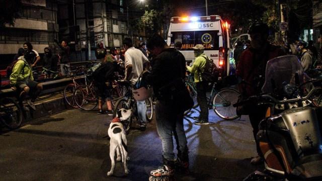 Los ciclistas denunciaron haber sido agredidos por elementos de tránsito de la SSC. (FLos ciclistas denunciaron haber sido agredidos por elementos de tránsito de la SSC.