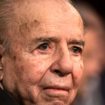 El expresidente argentino Carlos Menem (Getty Images, archivo)