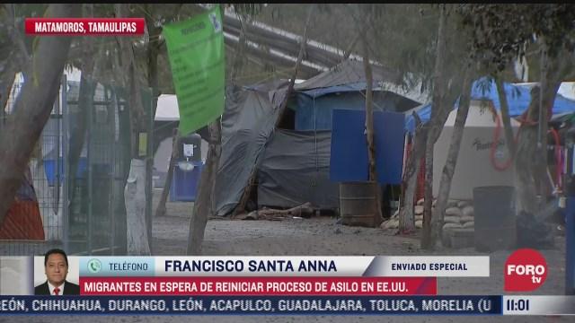 migrantes esperan reiniciar proceso de asilo en eeuu