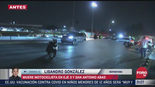 muere motociclista en eje 3 y san antonio abad por impacto de camion