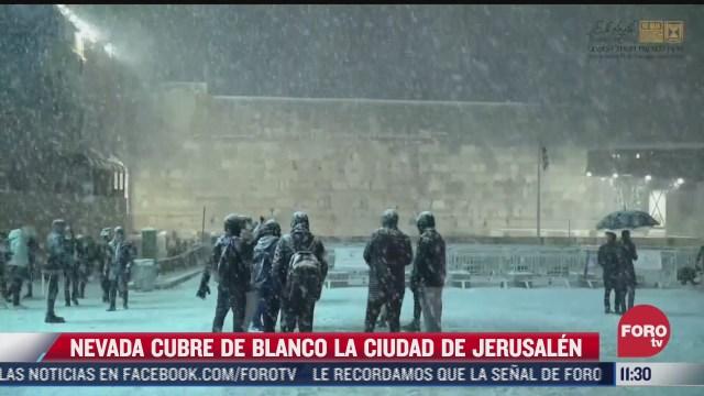 nevada cubre de blanco la ciudad de jerusalen