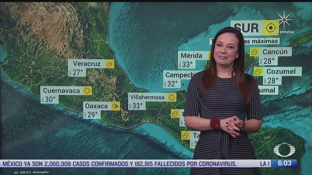 preven altas temperaturas en gran parte de mexico