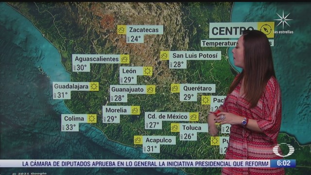 preven altas temperaturas en norte centro occidente y sur de mexico