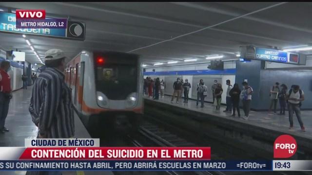 programa salvemos vida para evitar suicidios en el metro