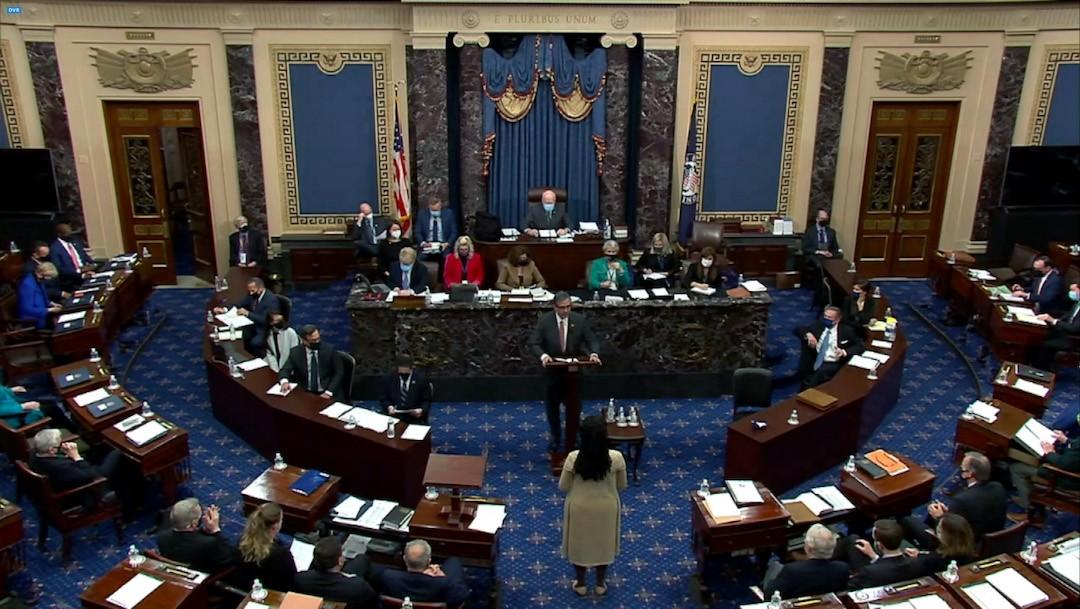 El segundo juicio político de Donald J. Trump continúa en el Senado (Getty Images)