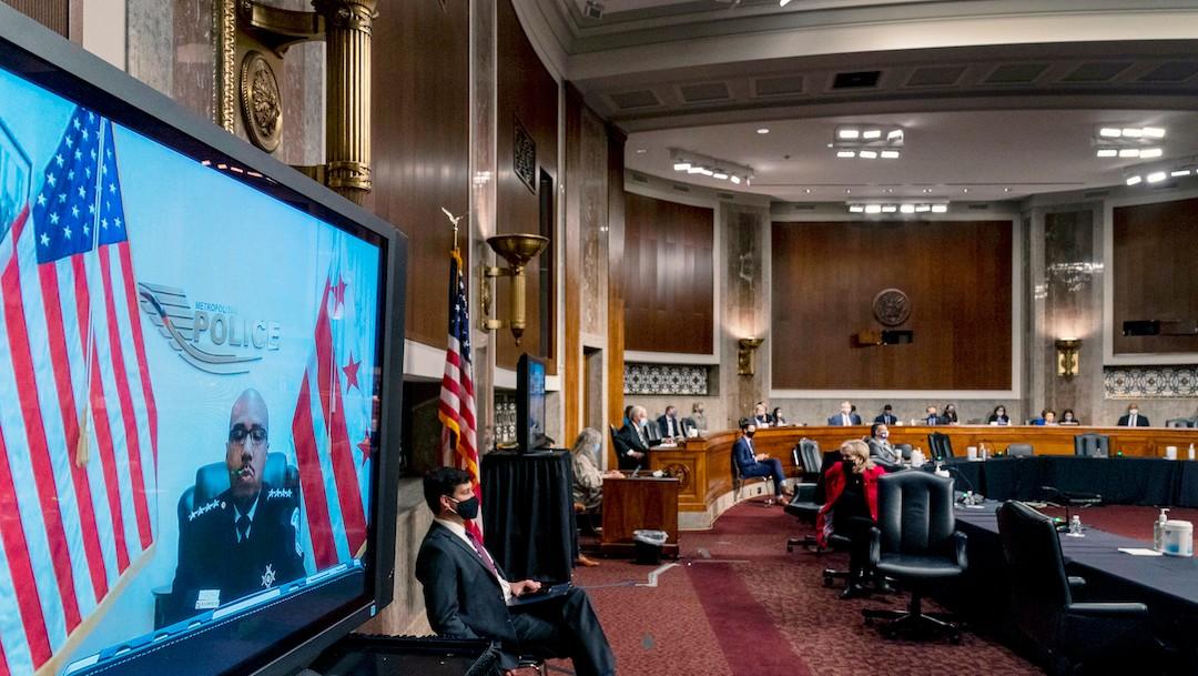El Comité de Seguridad Nacional del Senado escucha el testimonio de los oficiales de policía (Getty Images)
