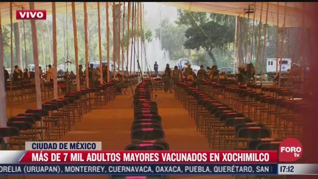 suman mas de 7 mil personas vacunadas en xochimilco cdmx