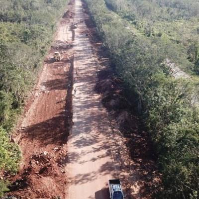 Autopista Cancún-Mérida se redujo a un solo carril por construcción del Tren Maya (Cuartoscuro, archivo)