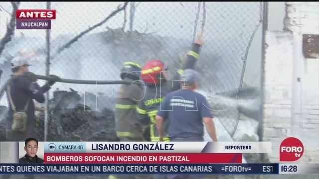 bomberos sofocan incendio en naucalpan estado de mexico