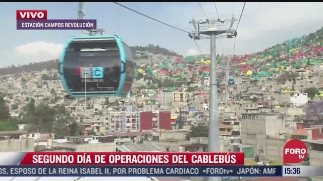 cablebus permite entrada gratuita en su segundo dia de operaciones