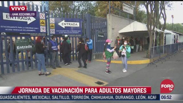 continua aplicacion de segunda dosis de vacuna en xochimilco iztacalco y tlahuac