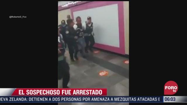 disparos en estacion del metro merced hay un detenido