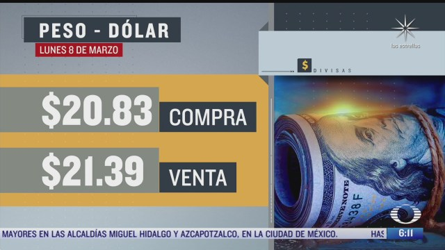 el dolar se vendio en 21 39 en la cdmx del 8 marzo del