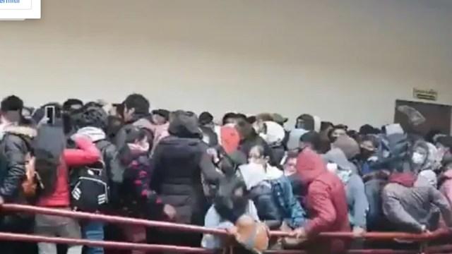 Estudiantes realizaban una asamblea (FOROtv)