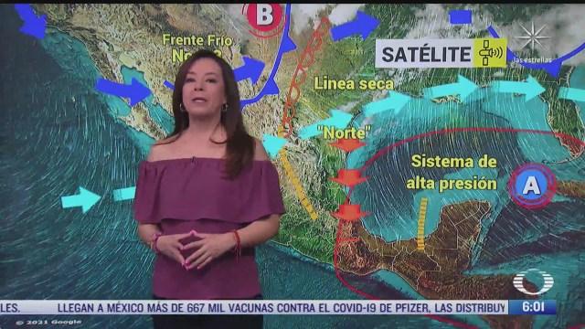 frente frio 43 provocara lluvias en el oriente y sureste de mexico