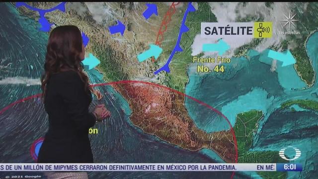 frente frio 44 provocara vientos fuertes en el norte y noreste de mexico