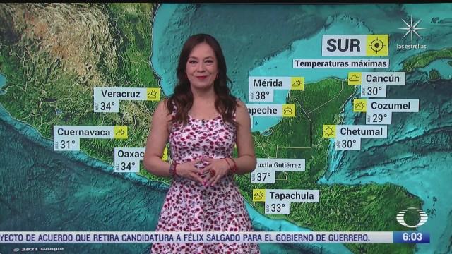 frente frio 45 provocara bajas temperaturas en el noroeste y norte de mexico