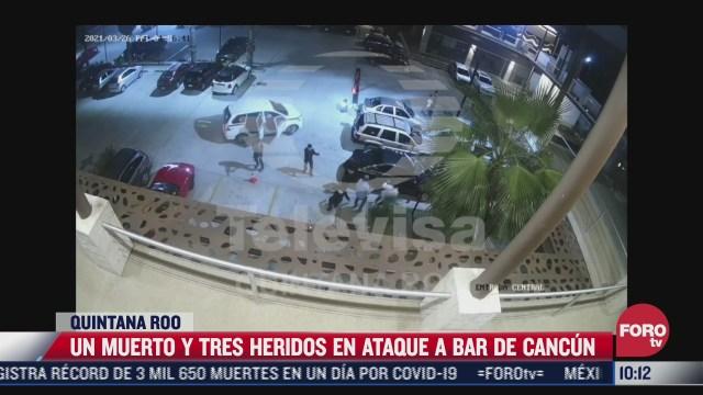 hombres armados disparan contra clientes en bar de cancun