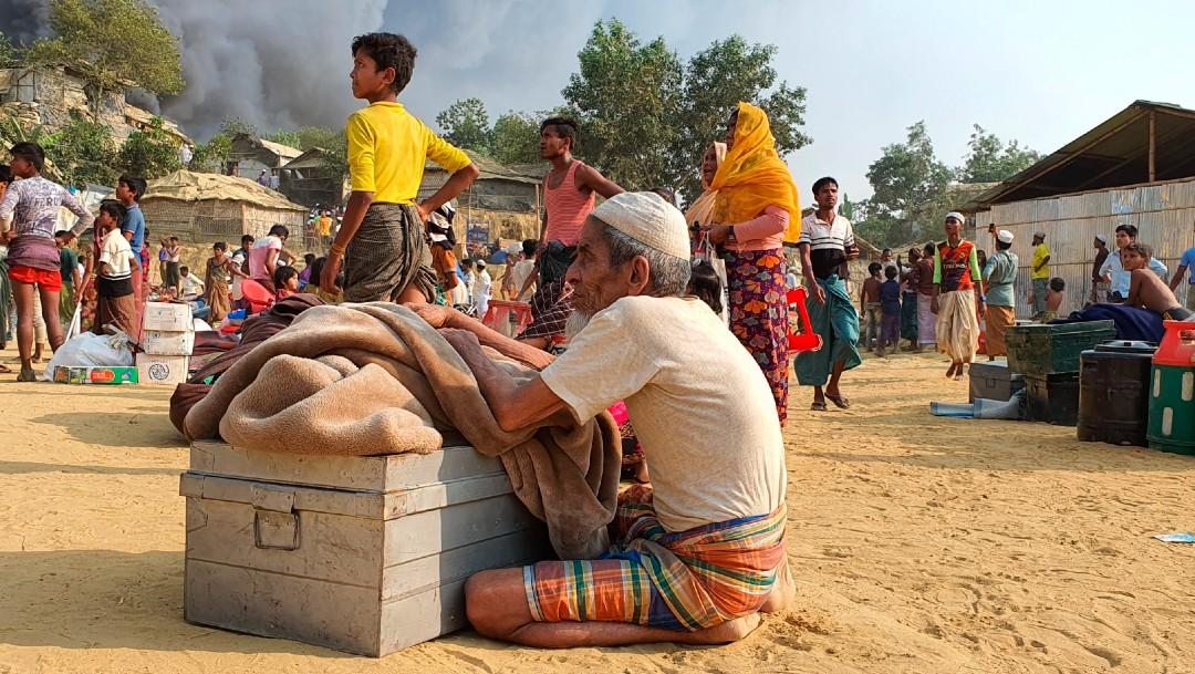 Incendio en campamento de refugiados rohingya deja al menos 7 muertos