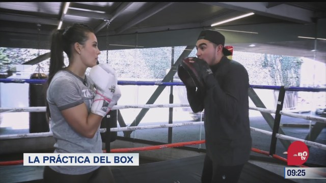 la practica de box