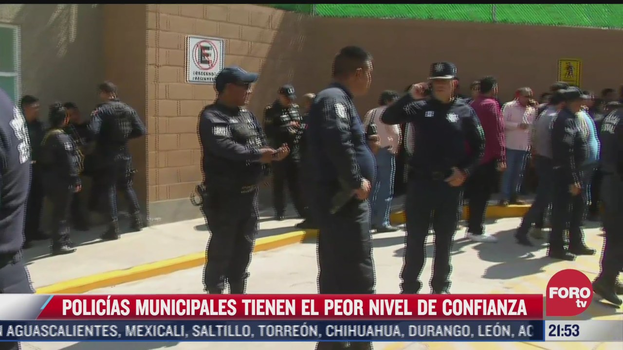mexicanos tienen menos confianza en policias municipales inegi