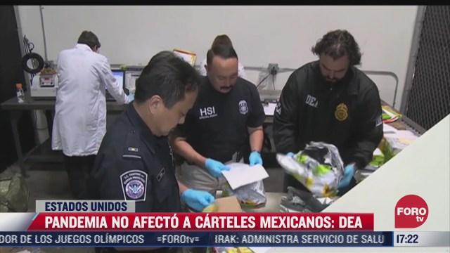 pandemia no afecto a los carteles mexicanos estados unidos