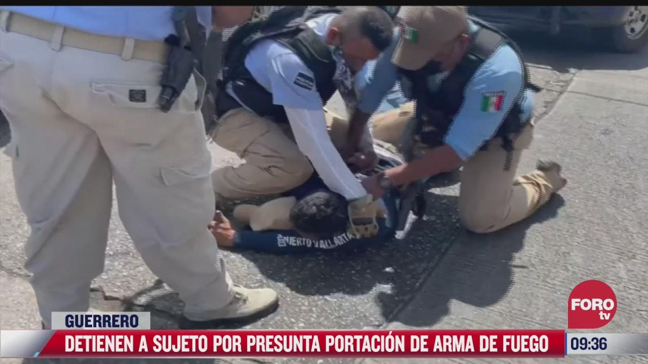 policias forcejean y someten a hombre en acapulco guerrero
