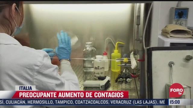 preocupante aumento de contagios en italia