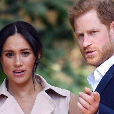 Fotografía del príncipe Enrique y Meghan Markle