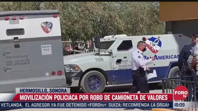 roban camioneta de valores en hermosillo sonora