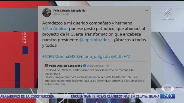 salgado macedonio agradece a pablo amilcar sandoval retiro de busqueda de candidatura en guerrero