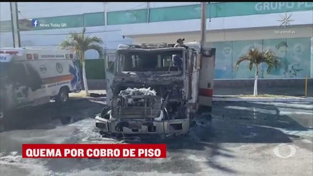 sujetos prenden fuego a ambulancias en cancun quintana roo