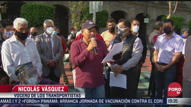 transportistas en cdmx exigen aumento en el pasaje