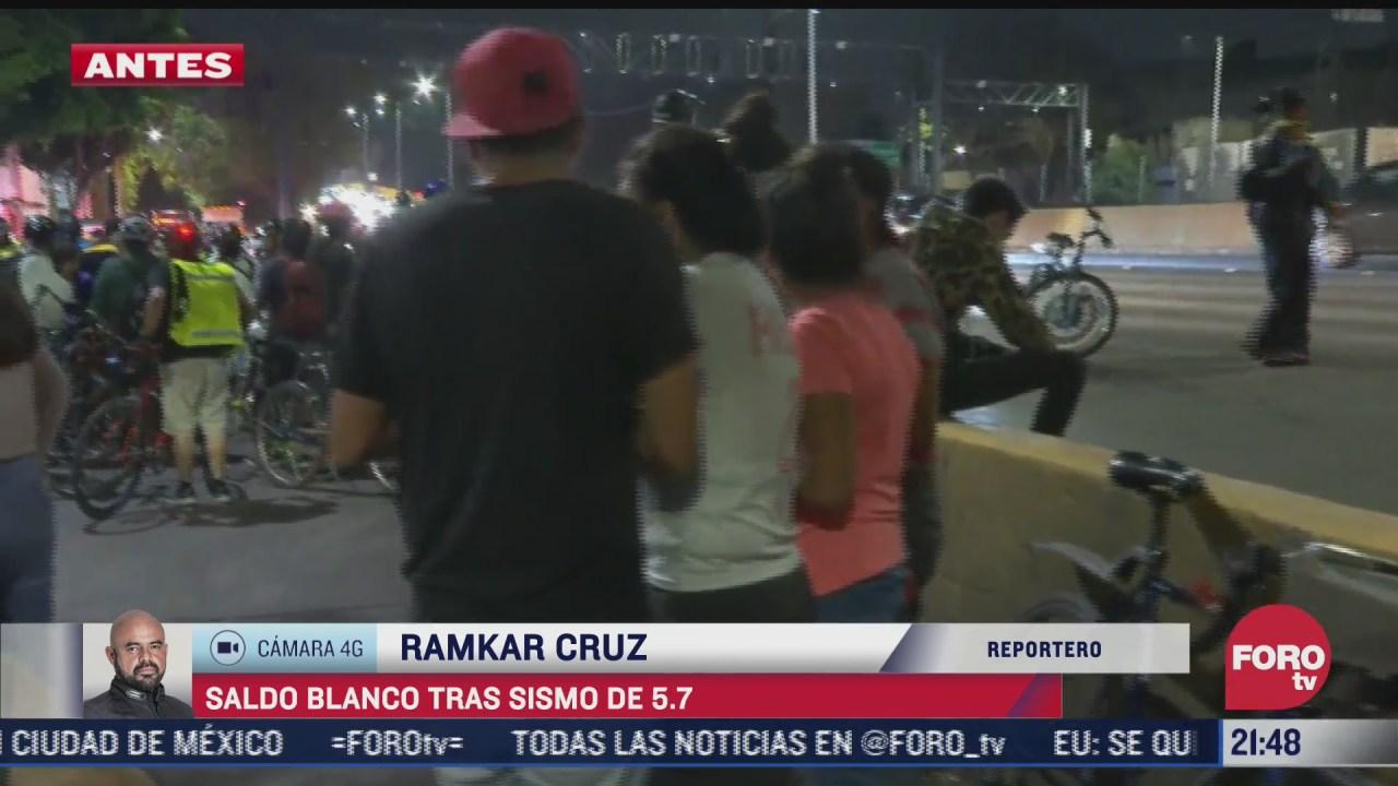 vecinos de iztacalco salen de sus hogares tras sismo