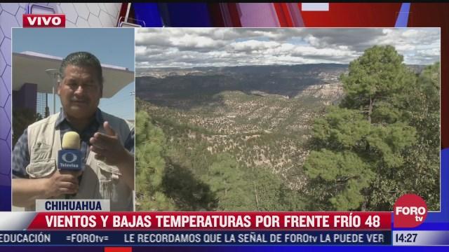 a pesar de la primavera se mantienen bajas temperaturas en chihuahua