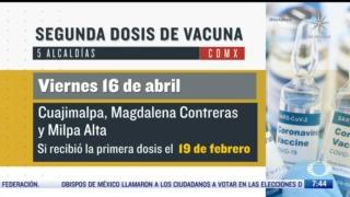 a que adultos mayores les toca segunda dosis de vacuna covid 19 hoy en cdmx