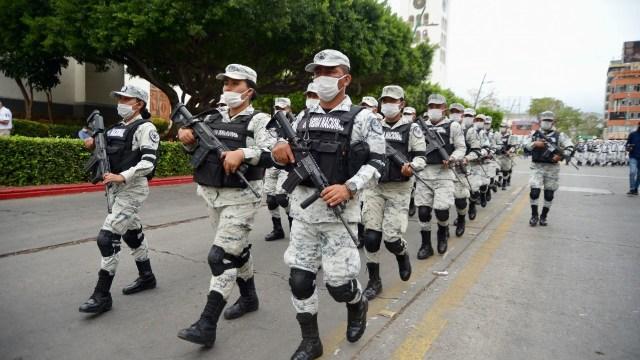 Video: Entrenamiento de estudiantes de la Guardia Nacional termina en pelea