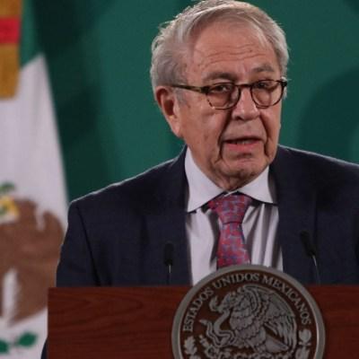 El secretario de Salud, Jorge Alcocer, en la conferencia matutina del presidente Andrés Manuel López Obrador, desde Palacio Nacional