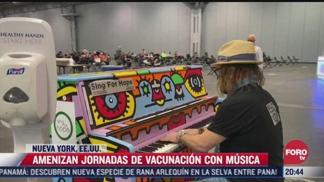 amenizan jornadas de vacunacion con musica en vivo en nueva york